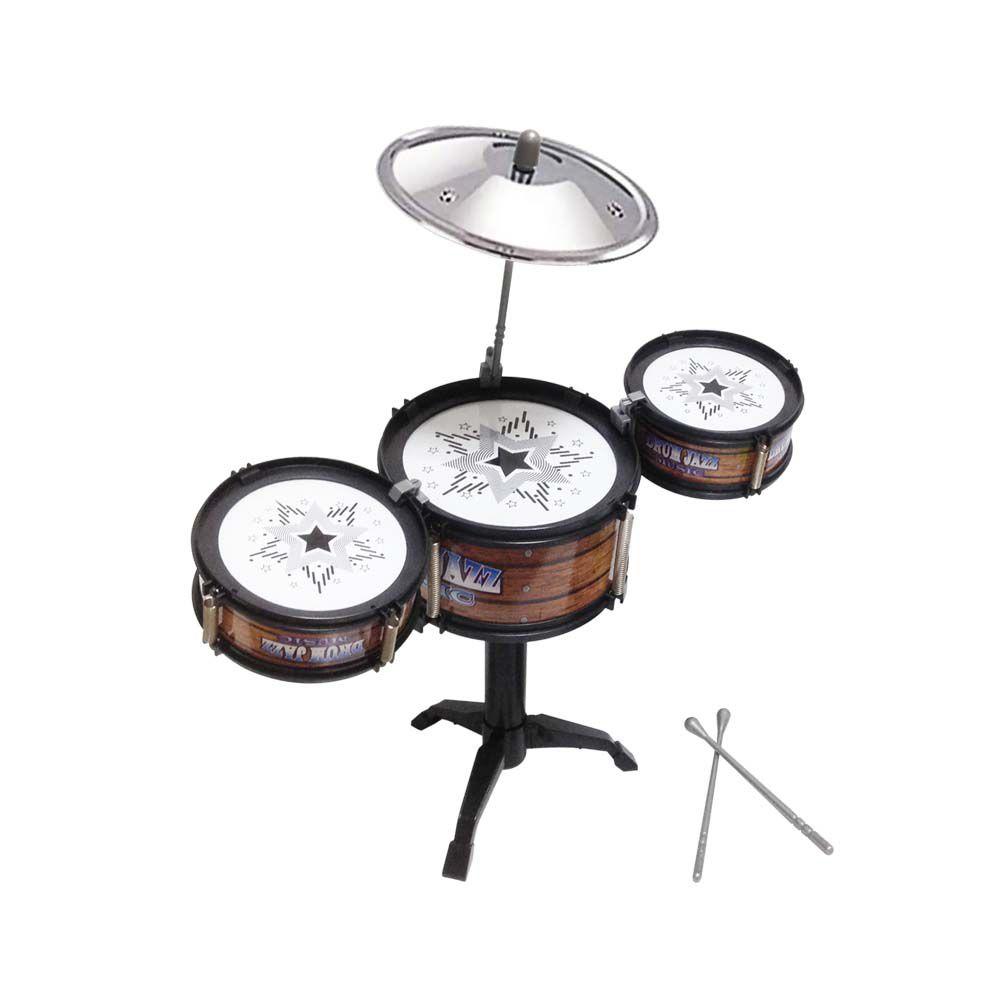 bateria infantil musical tambores prato baquetas
