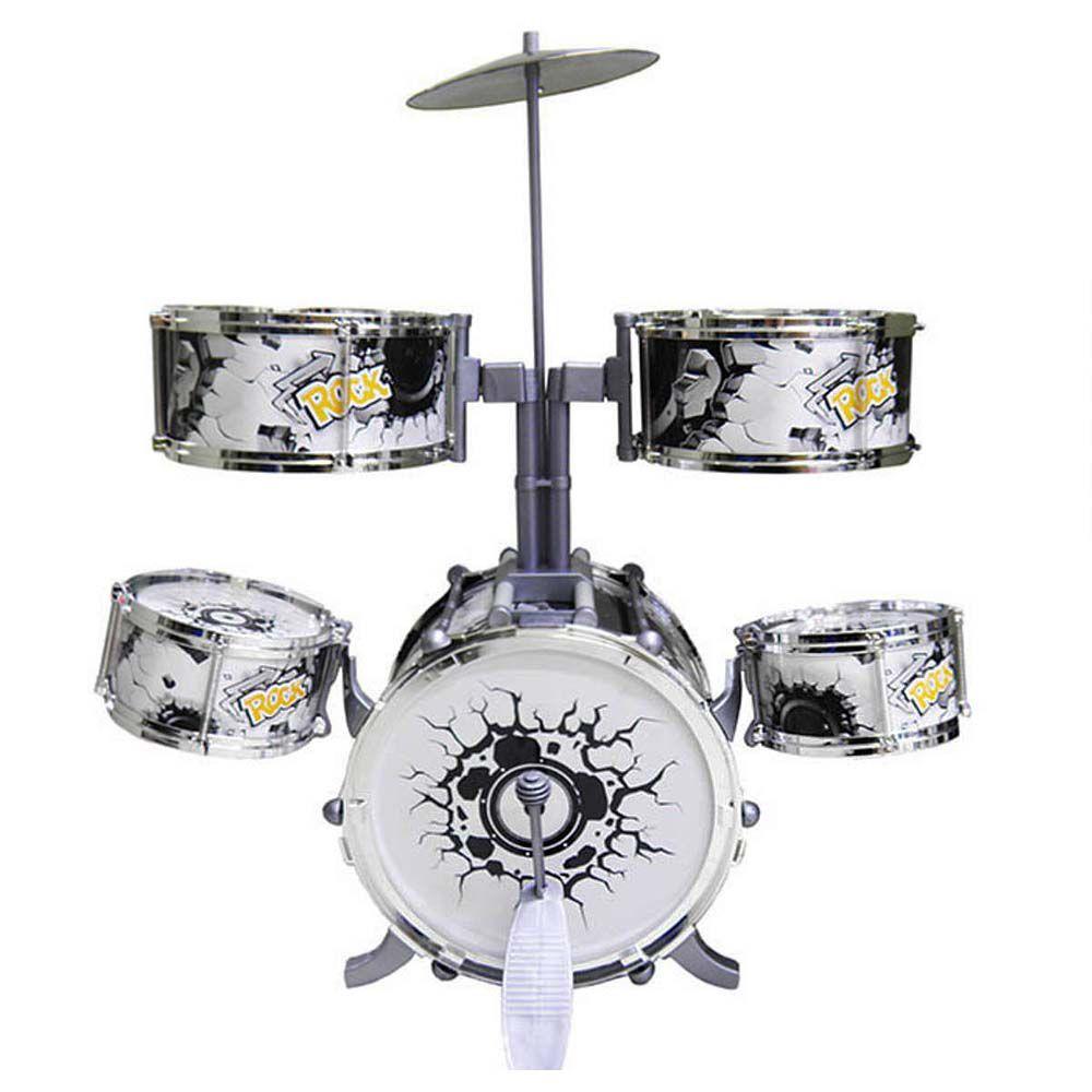 bateria infantil rock party musical com Pedal dm toys 67 cm