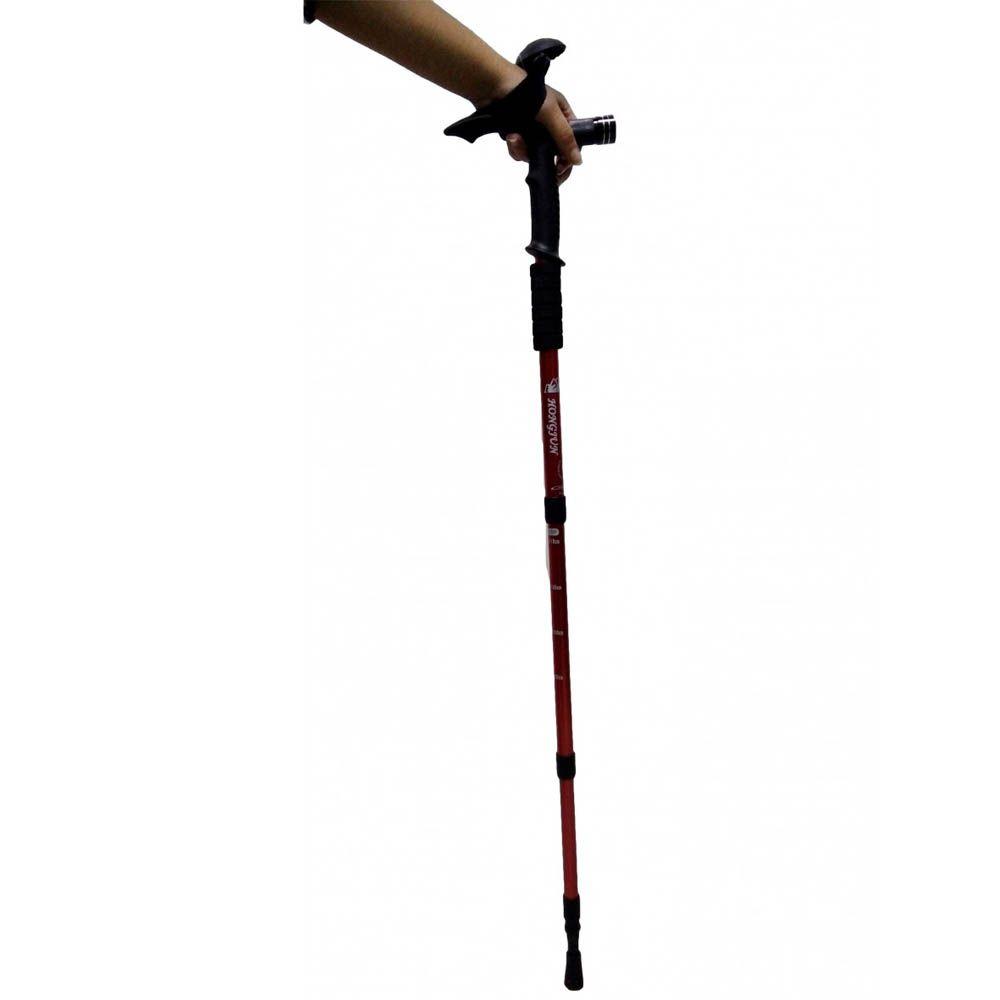 bengala retrátil para caminhada em alumínio com lanterna