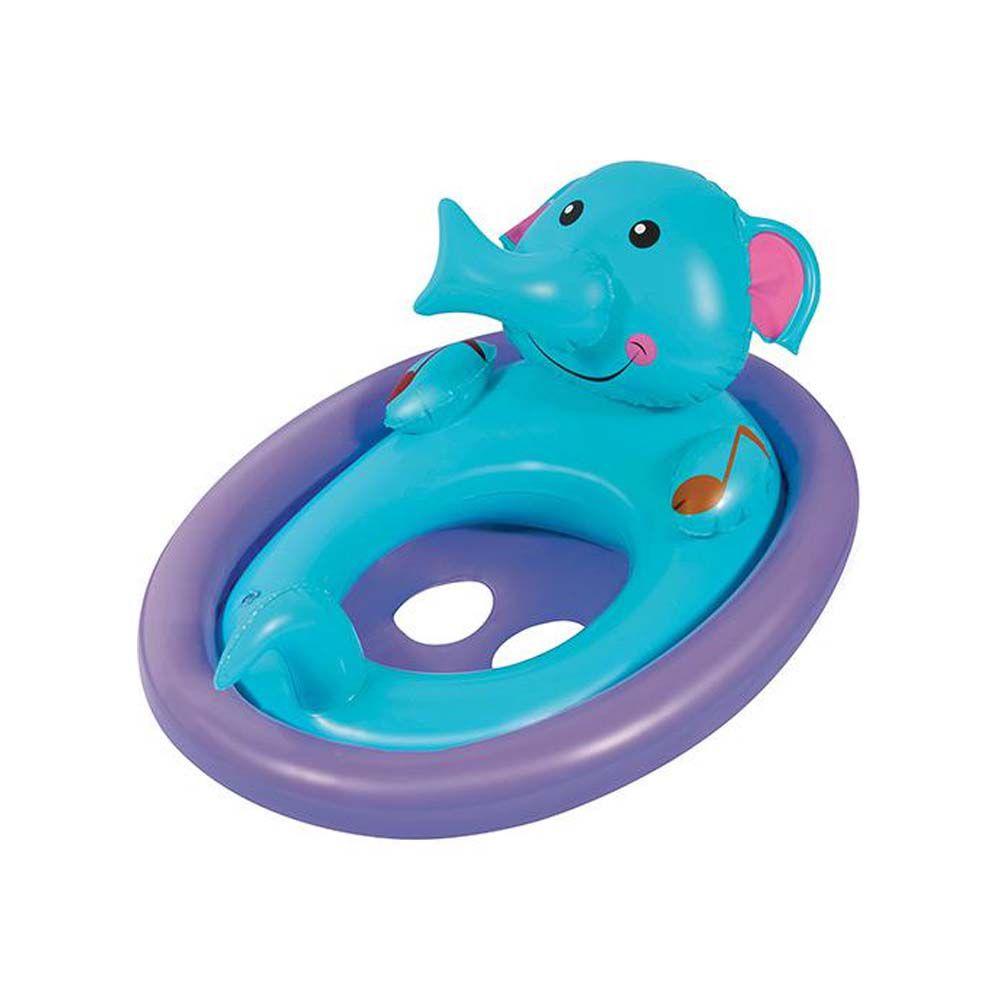 boia inflável elefante para piscina com encaixe de pernas