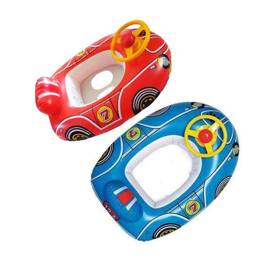 boia inflável infantil carro com assento e volante -vermelho