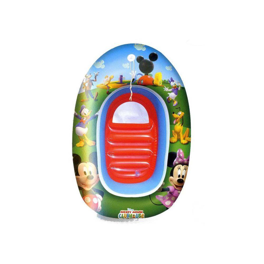 boia inflável infantil disney mickey piscina bote