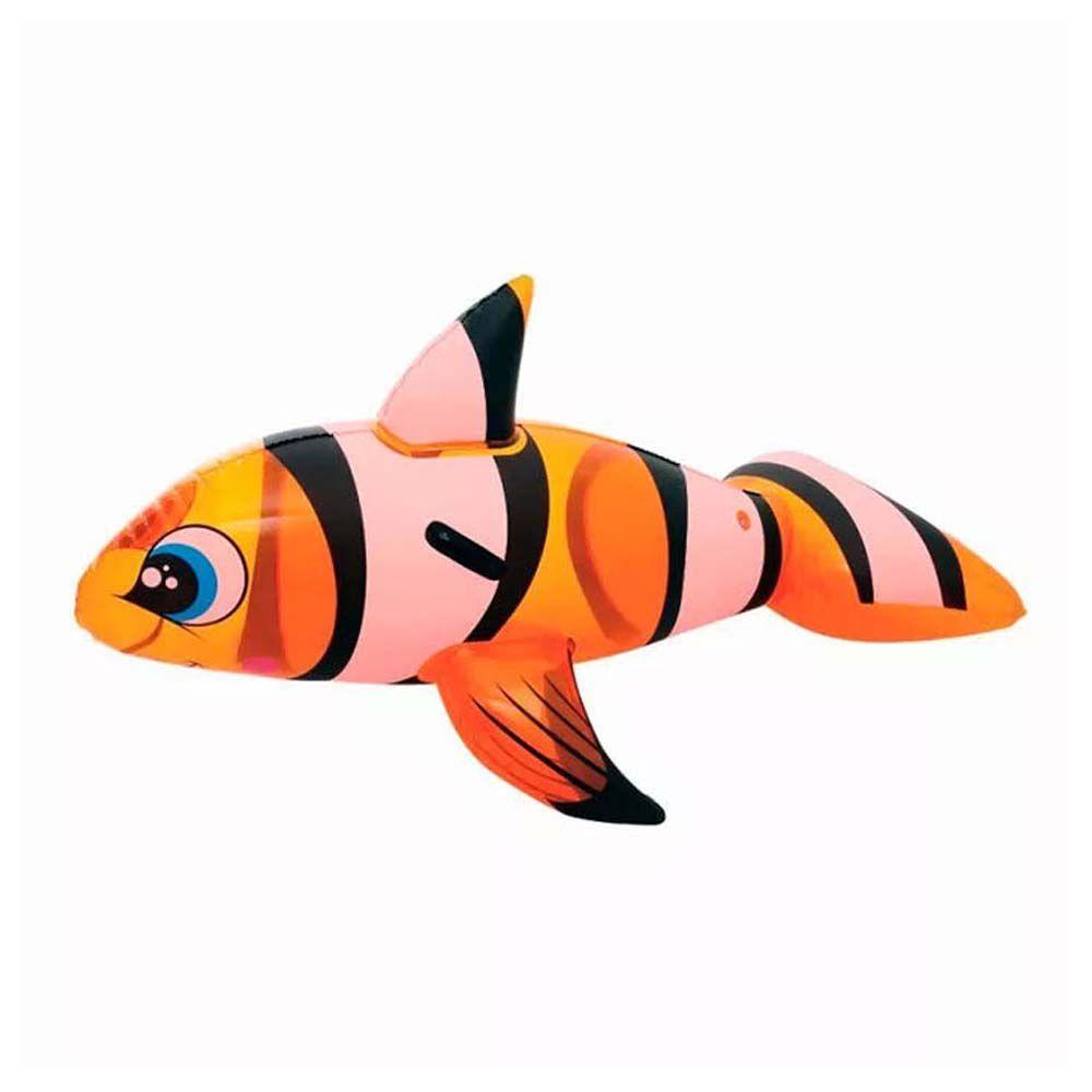 boia inflável peixe palhaço de piscina com 1,57 ml infantil