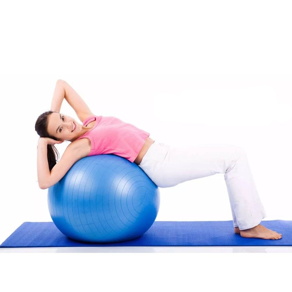 bola de pilates para yoga e ginástica com bomba de Ar 55 cm