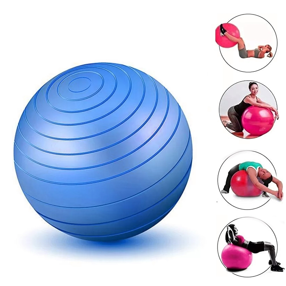 Bola Inflável Exercícios Pilates Yoga Abdominal Ginástica 55