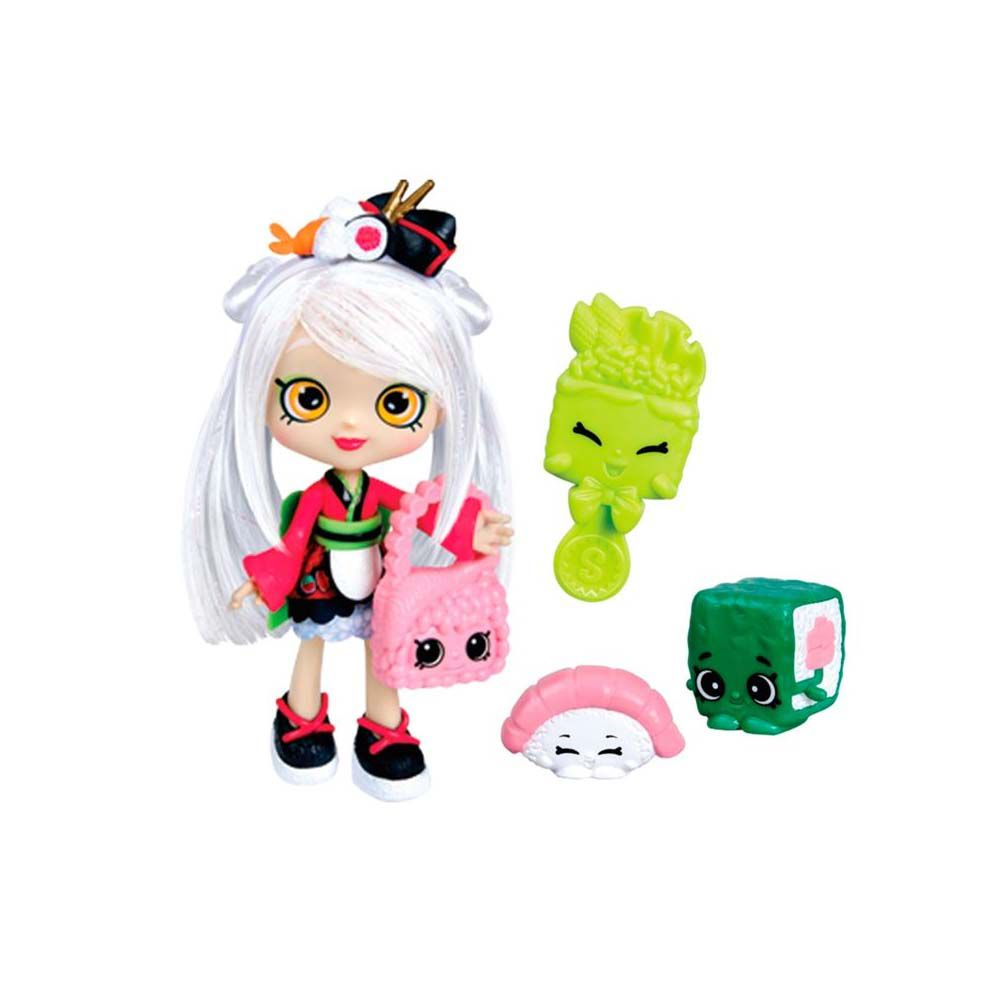 boneca sara sushi shoppies 2 shopkins exclusivos acessórios