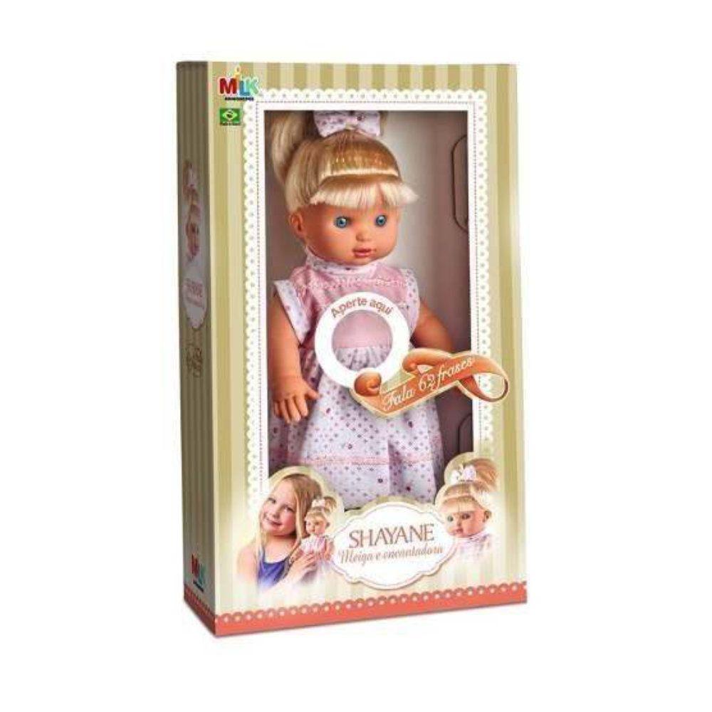 boneca shayane que fala 62 frases com 34cm encantadora meiga