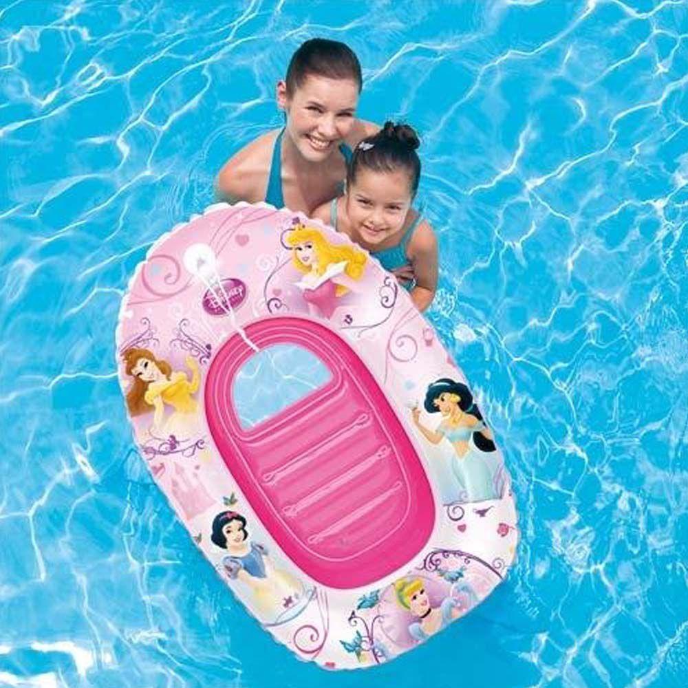 bote inflável boia infantil princesas disney para piscina
