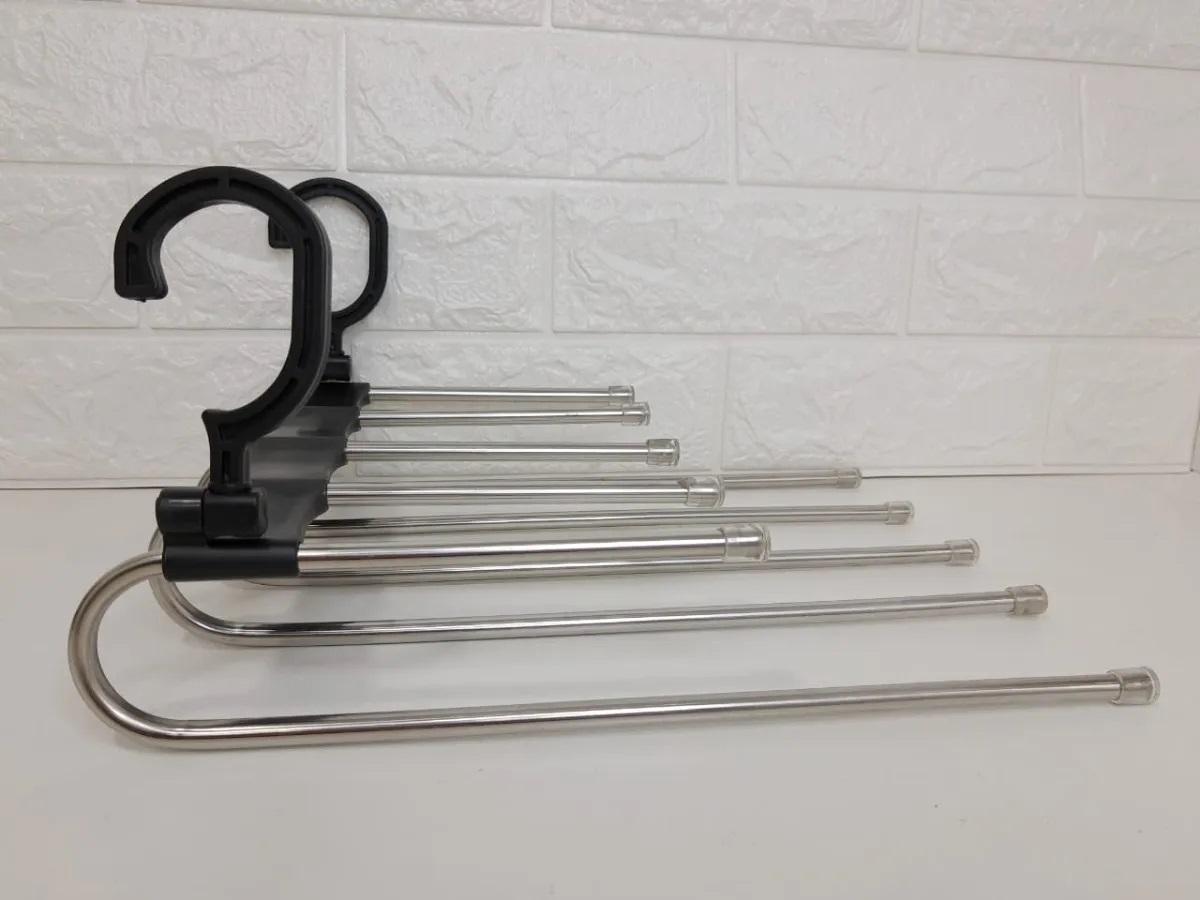 Cabide De Calça em Inox Para 5 Peças Multi função Dobrável
