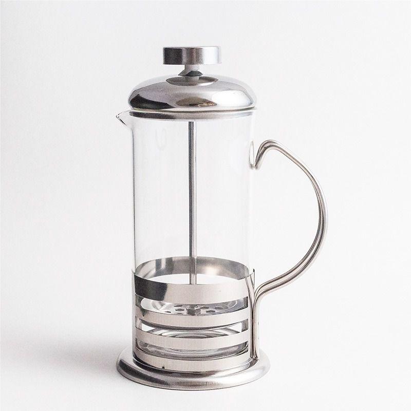 Cafeteira Francesa 350ml Vidro e Inox Cremeira  Livon