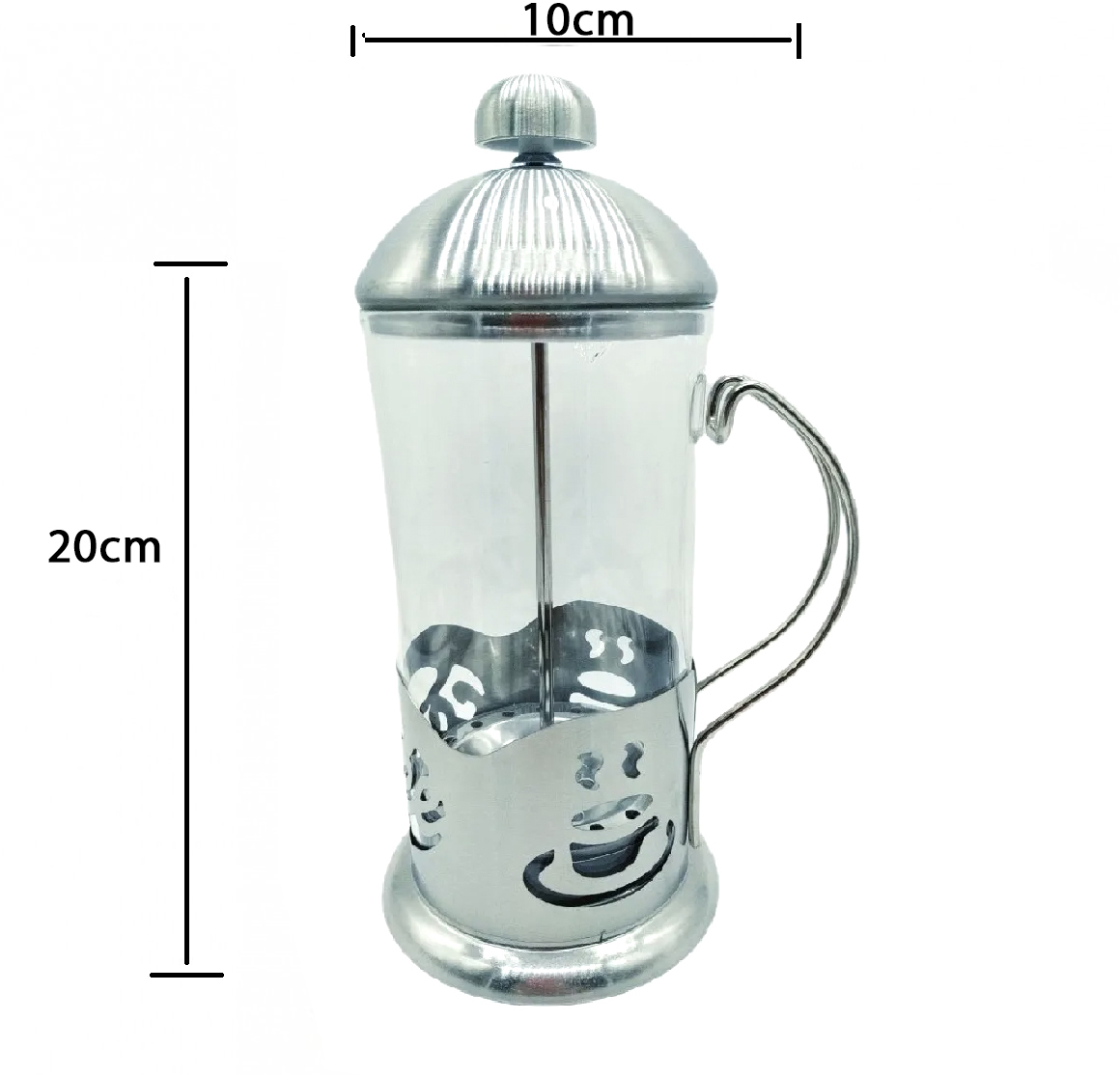 Cafeteira Francesa Cremeira Café 350ml De Vidro