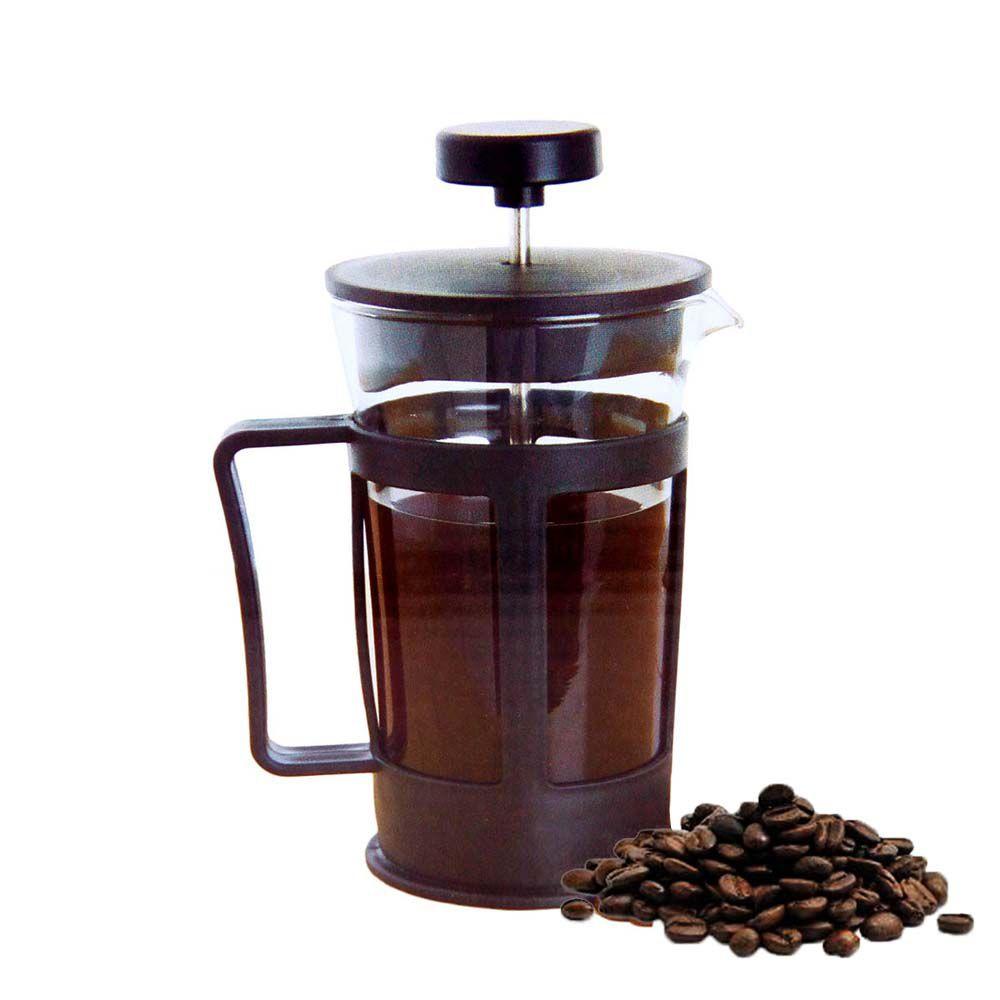 cafeteira francesa manual com filtro inox profissional 600ml