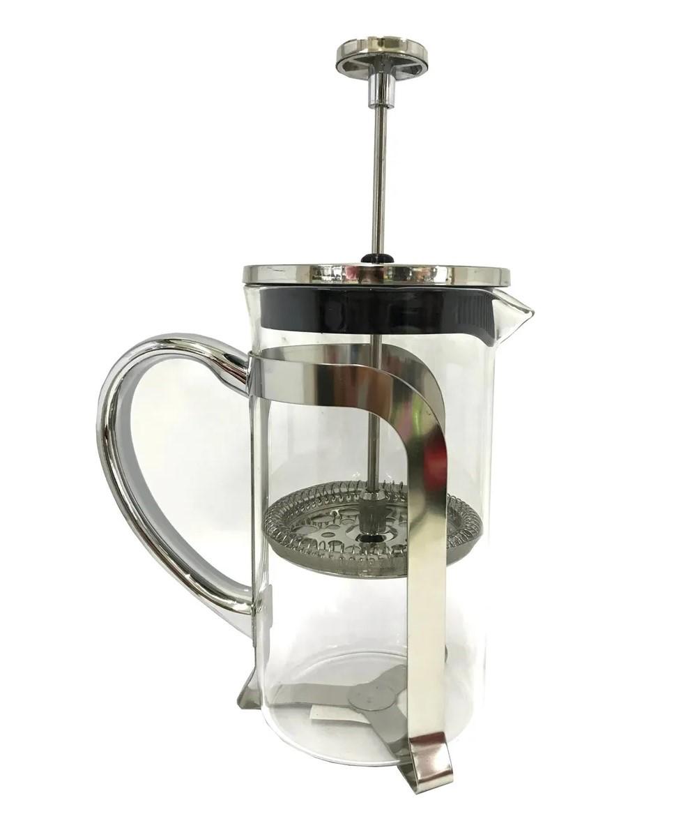 Cafeteira Prensa Francesa 600ml Vidro Inox café chá Cremeira