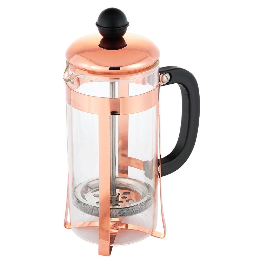 Cafeteira Prensa Francesa Rose 350ml Vidro Inox Cremeira