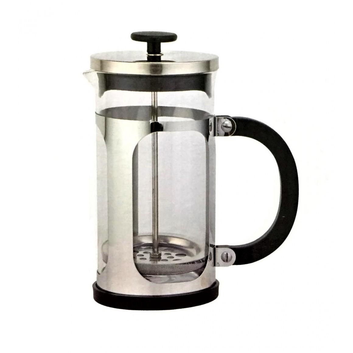 Cafeteira Prensa Francesa Vidro Inox Cremeira café chá 600ml