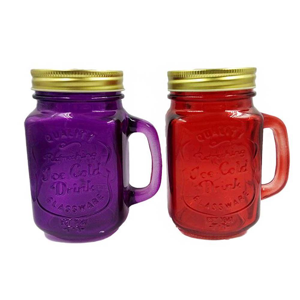 caneca pote de vidro mason Jar personalizada 450ml