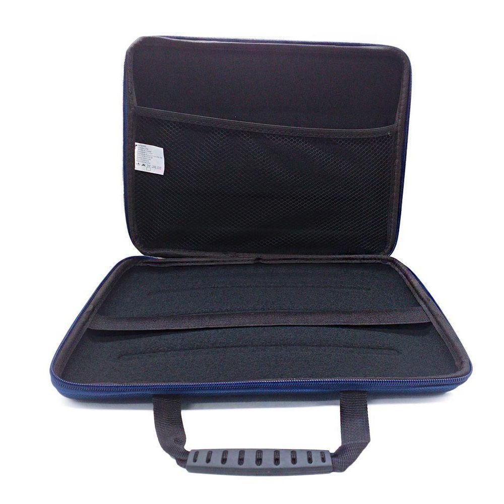 capa para notebook rígida 12 polegadas com alça E zíper azul