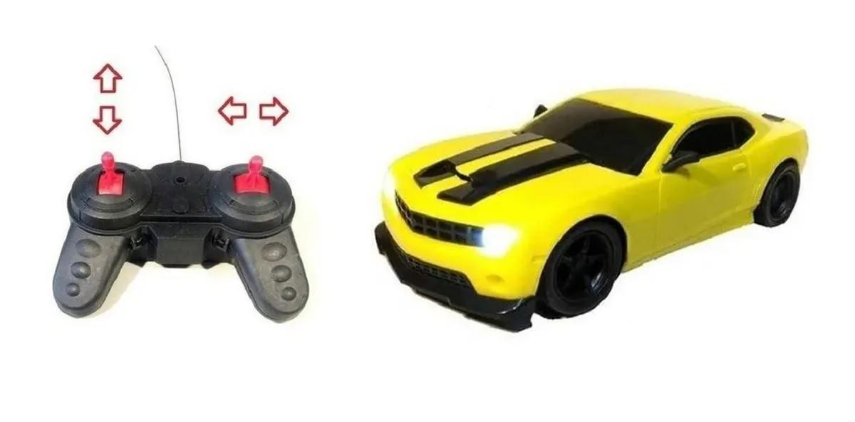 Carrinho Carro Controle Remoto 7 funçoes Acende Luz Do Farol