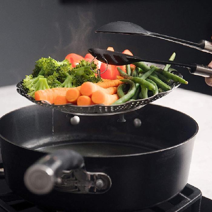 Cesto Cozimento Inox A Vapor P Cozinhar Legumes Em Panela