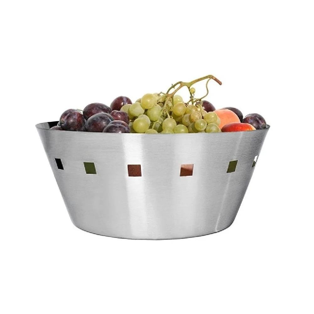 Cesto De Inox Para Pães E Frutas 21cm Casa Bella