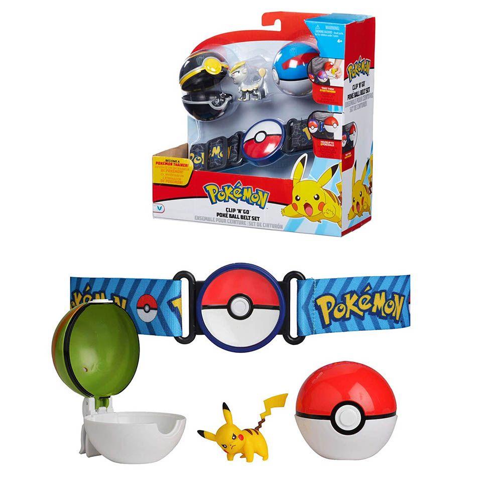 cinto pokemon clip n go kit poke ball set colecionável
