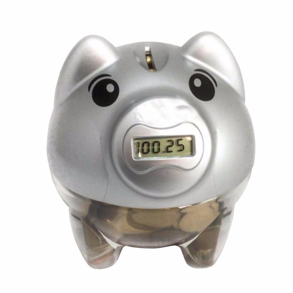 cofre digital contador lcd porquinho