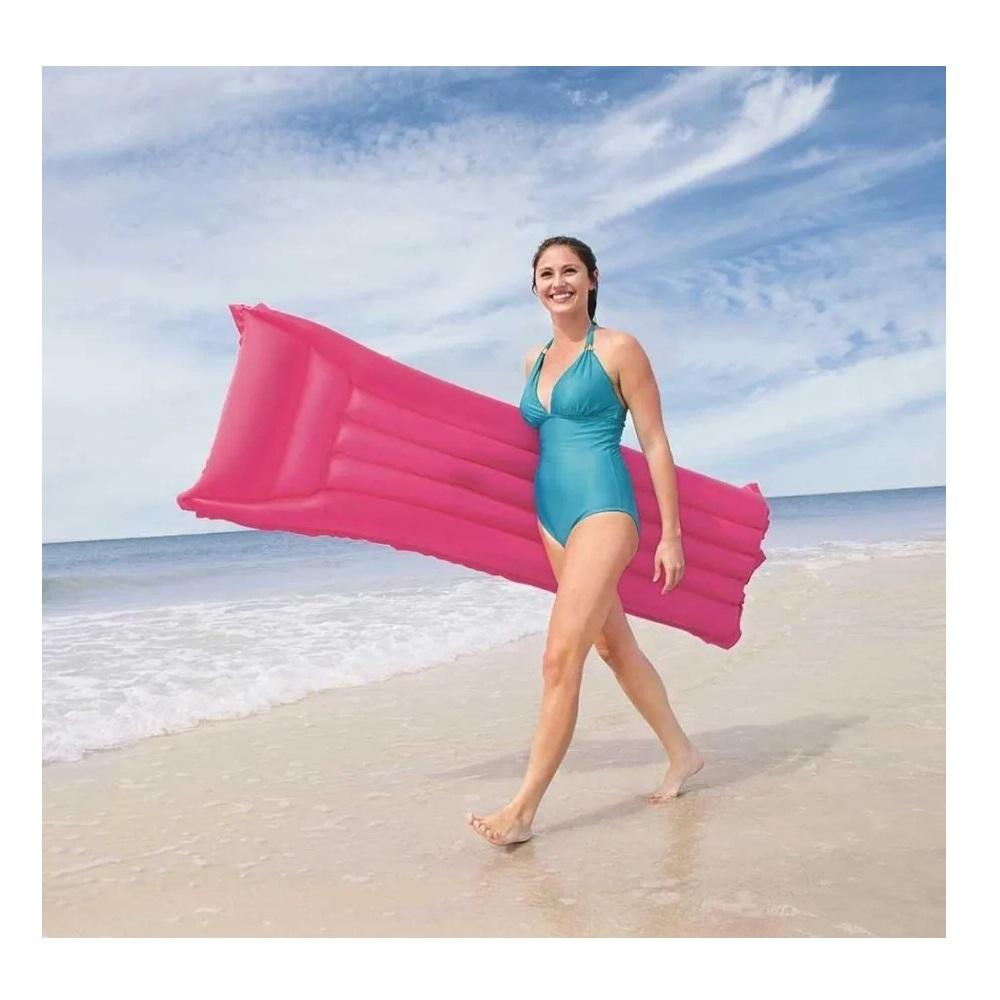 Colchão Inflável Para Piscina Colorido 183 cm Verão Praia