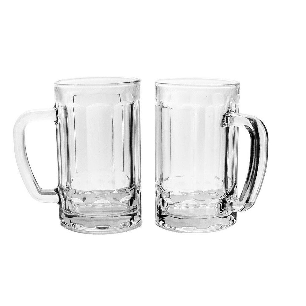 Conjunto 2 Caneca Cerveja e Chopp Alemã Copo Vidro 400ml