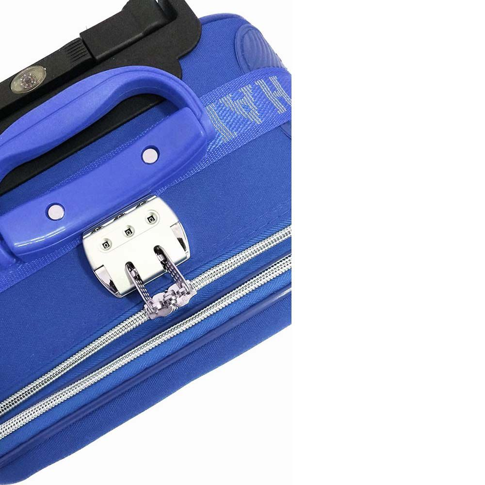 conjunto de malas de viagem 5 peças com trava - azul