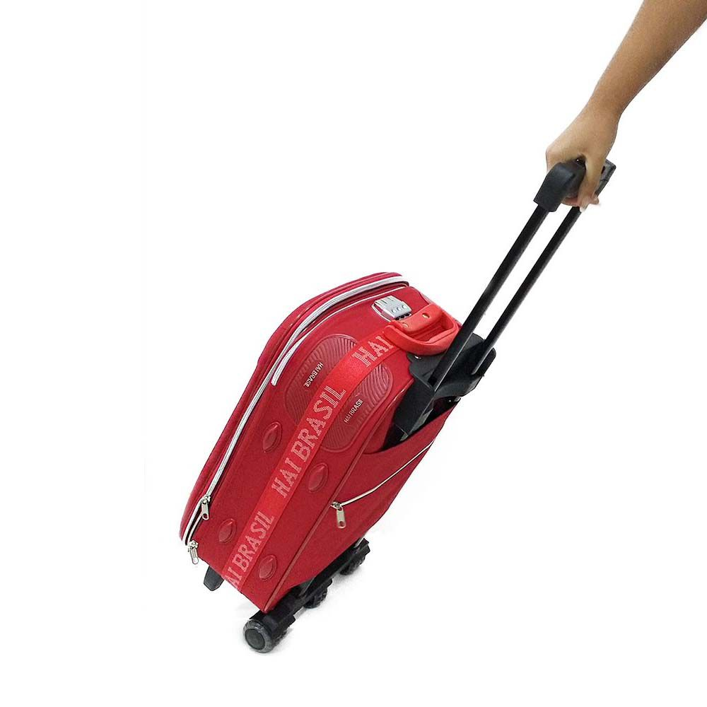conjunto de malas de viagem 5 peças com trava - vermelho