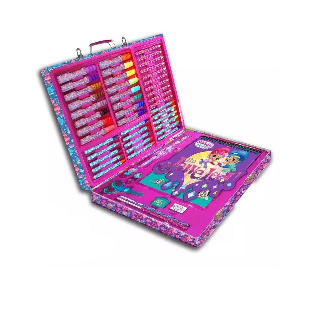 conjunto de pintura maleta de artes kit escolar - dtc