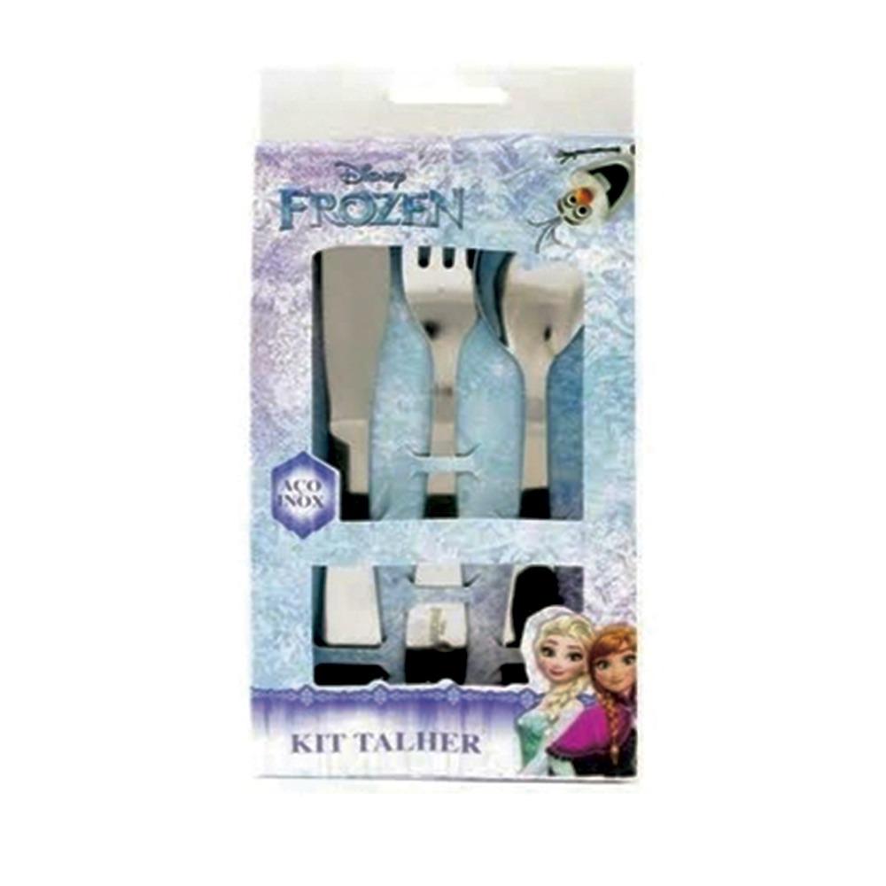 Conjunto De Talheres Frozen Disney aço Inox 3 Peças