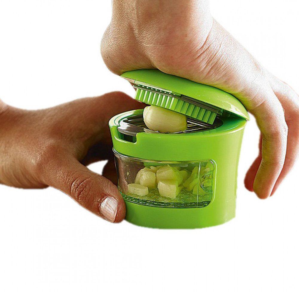 cortador e picador de alho desmontável 2 em 1 completo