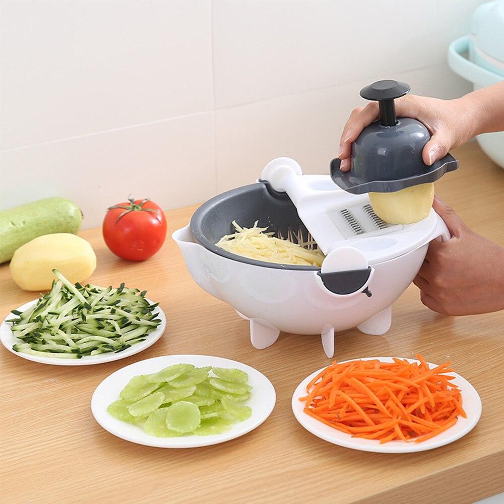 Cortador Fatiador Legumes Escorredor Ralador Multifuncional