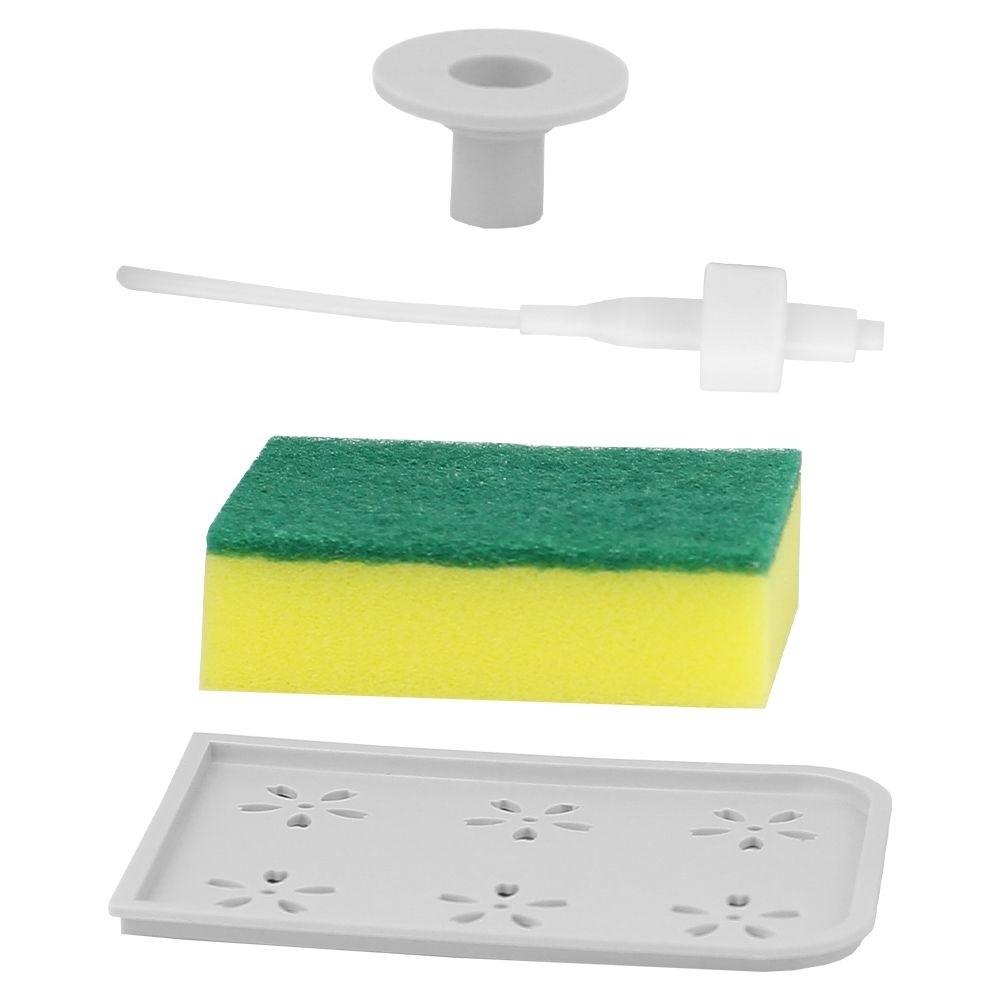 Dispenser Porta Detergente Liquido E Bucha Multifuncional