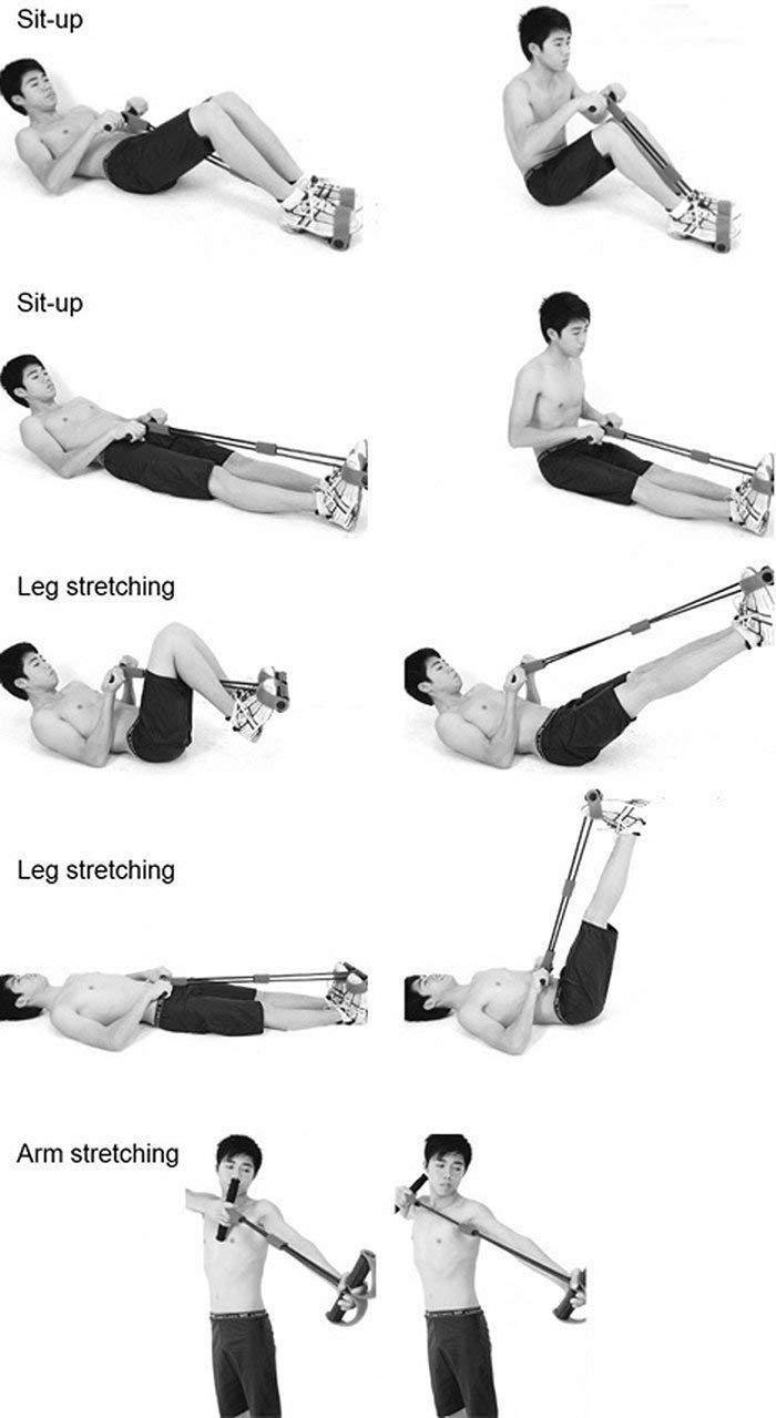 Elástico Tensão Exercícios Peito Costas Ombro Biceps Triceps