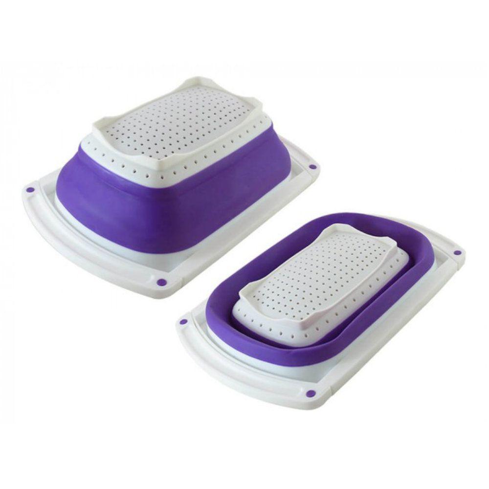escorredor de alimentos retrátil multiuso compacto para pia