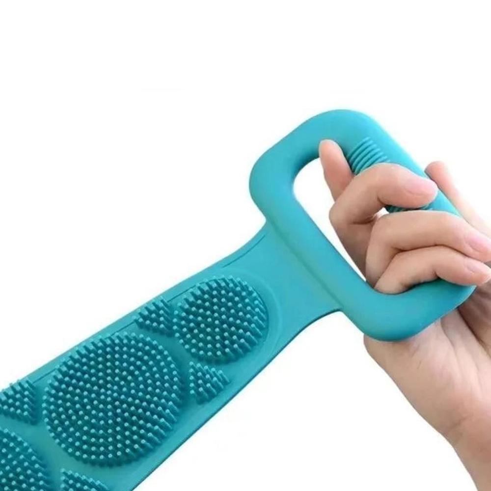 Escova De Silicone Bucha De Banho Limpeza Esfoliar Corpo