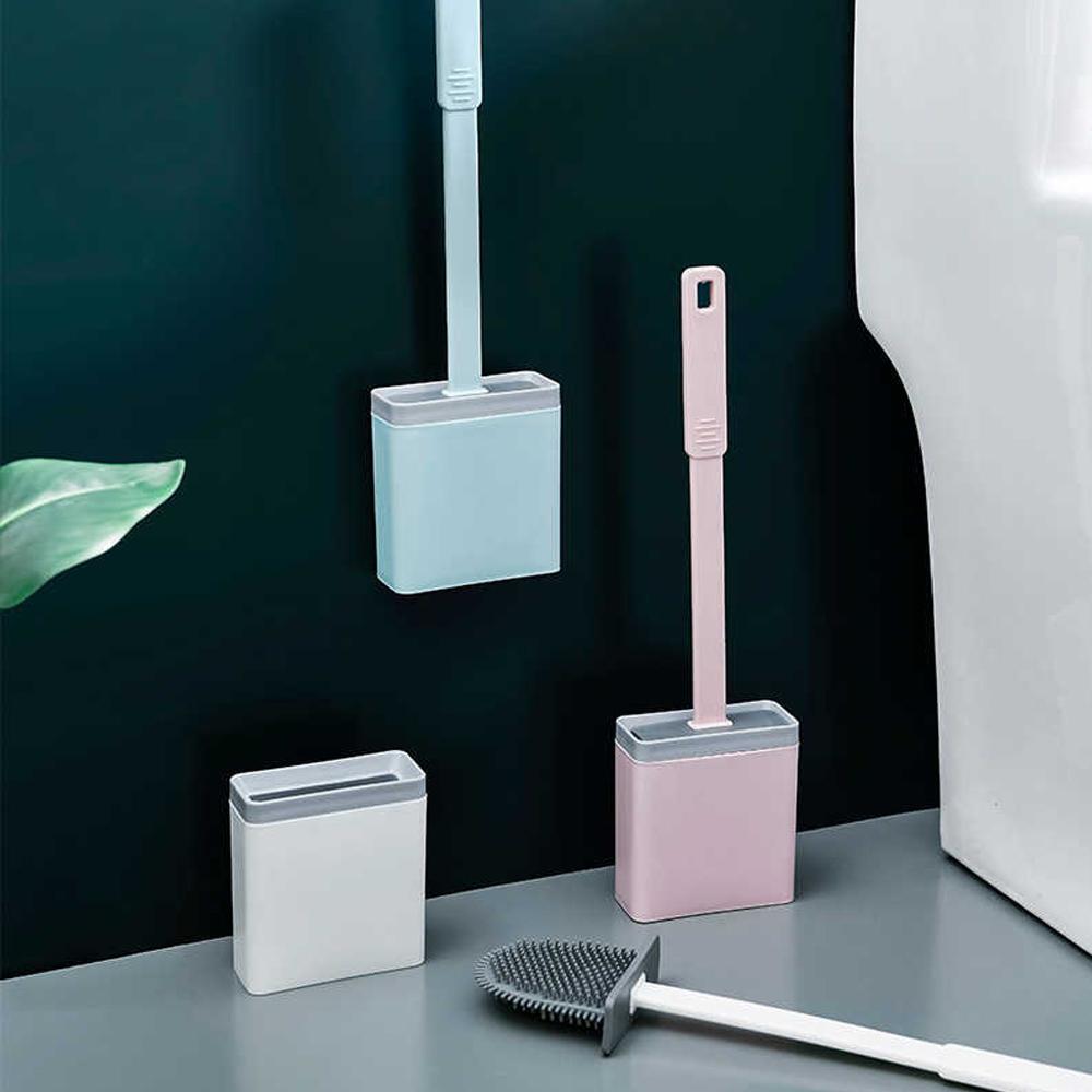 Escova De Silicone Limpar Vaso Sanitário Privada com Base