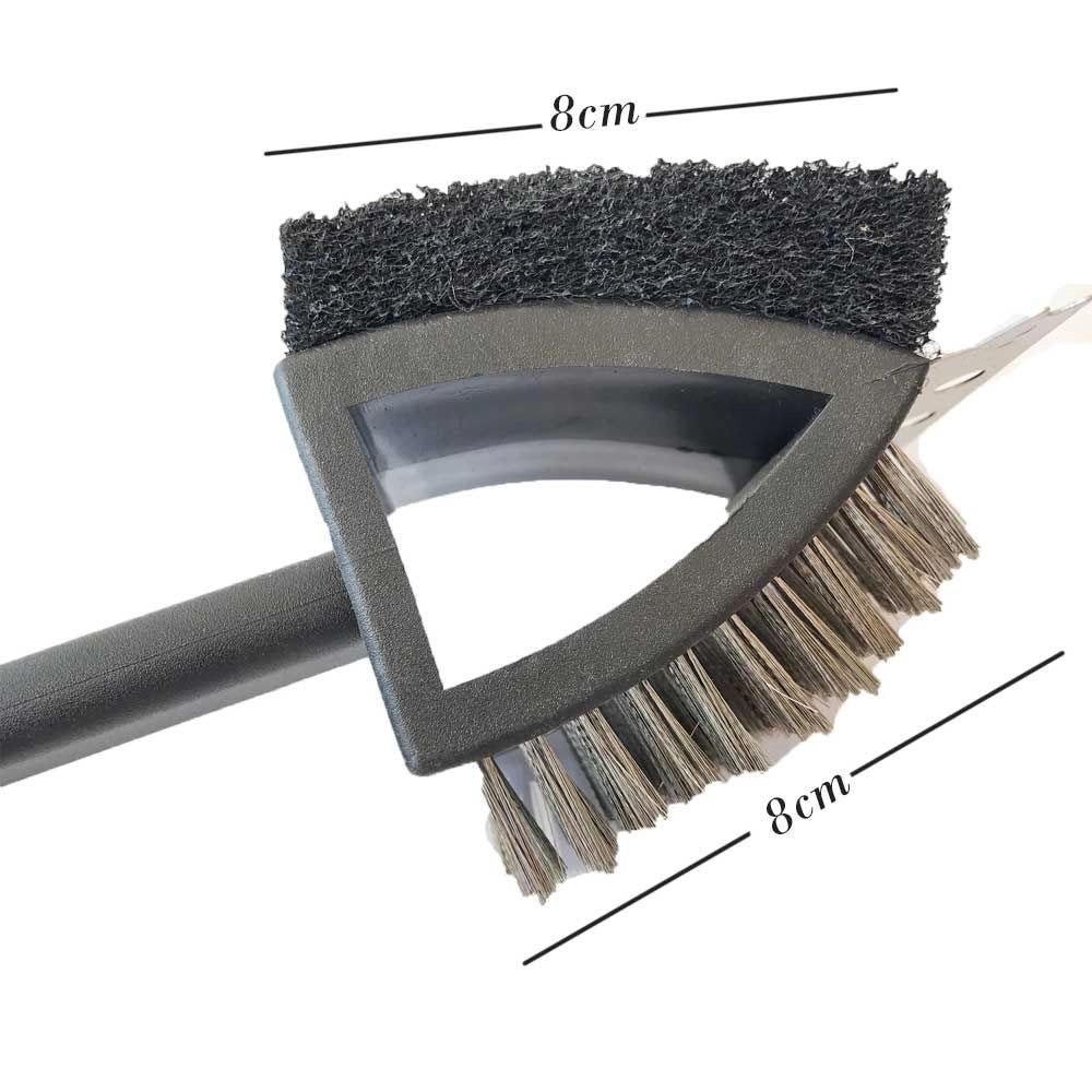 Escova Limpa Grelha Aço Esponja Para Churrasqueira E Grill