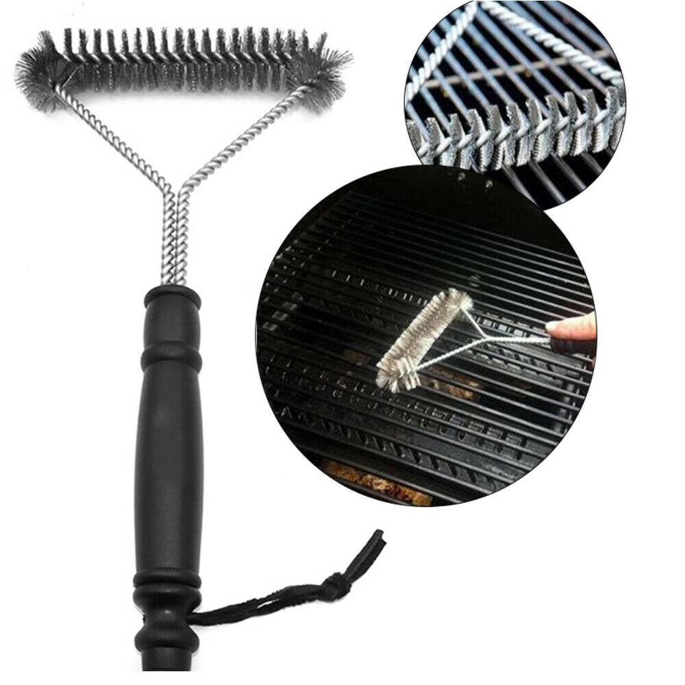 Escova Limpador Aço Para Grelha E Grill Churrasqueira