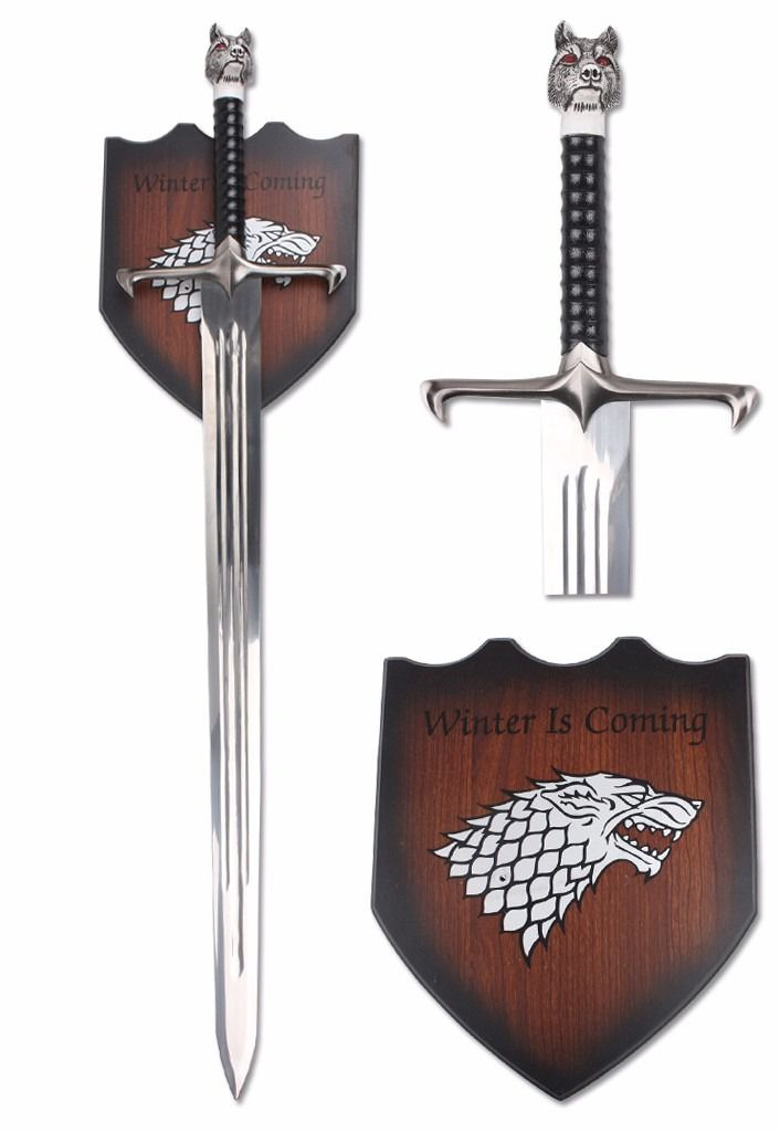 Espada John Sown Decorativa Winter Is Coming Com 106 Cm
