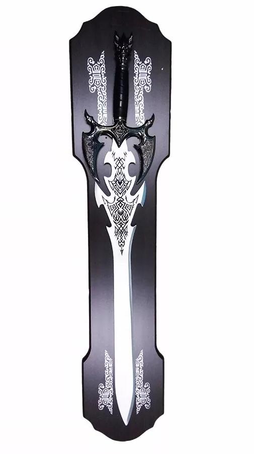 Espada Medieval Decorativa Com Suporte 88 Cm Em Aço