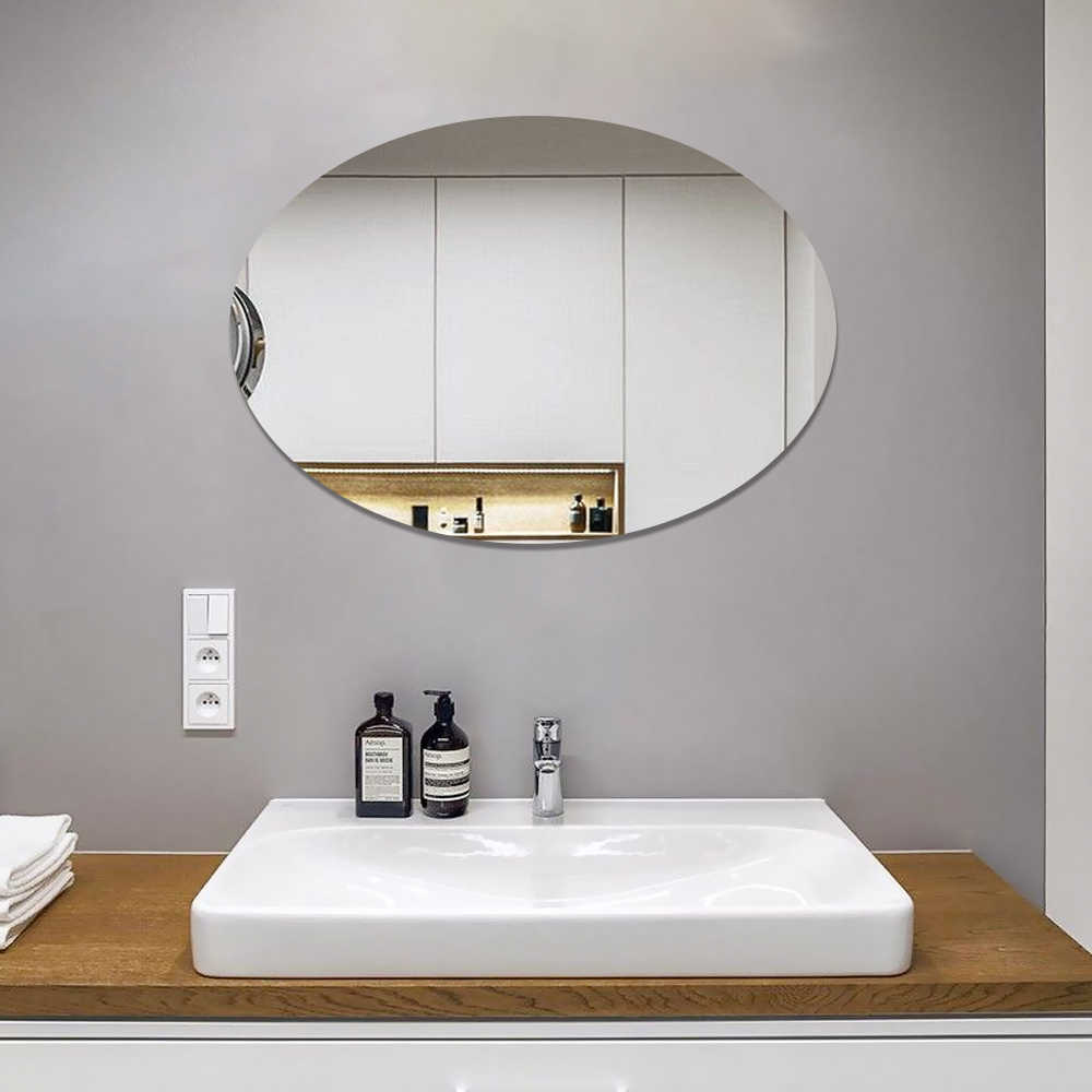 Espelho Adesivo Em Flexível Decorativo Parede 30X20Cm