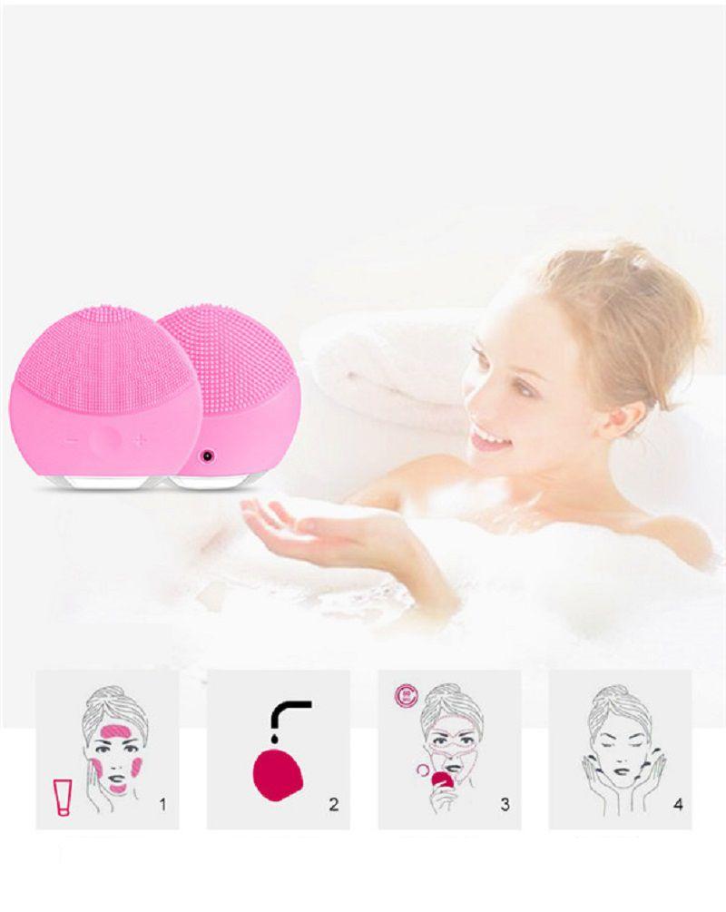 Esponja Elétrica Massageador Limpeza facial Rosto