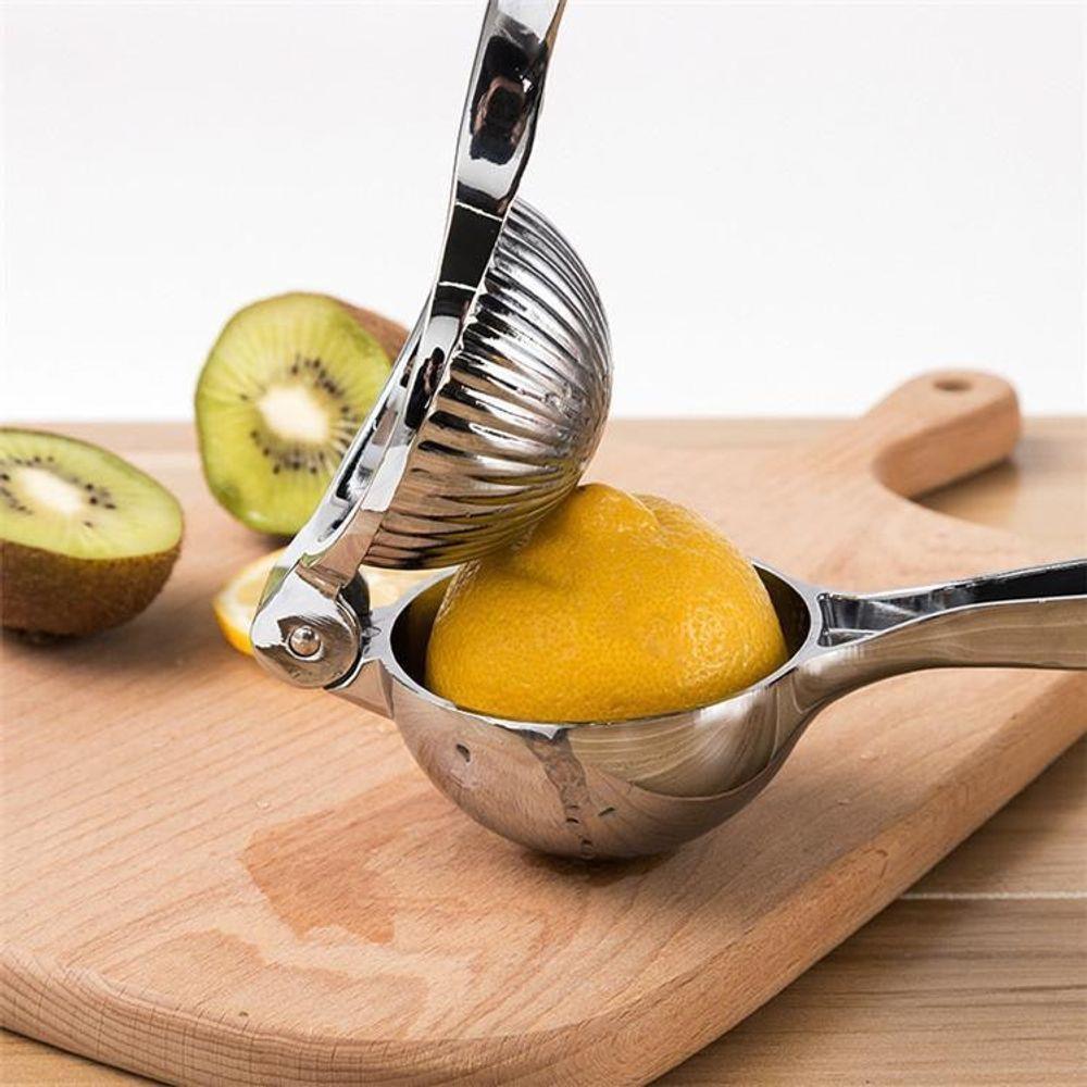 Espremedor De Limão Aço Inox Maciço Limonada Chef Gourmet