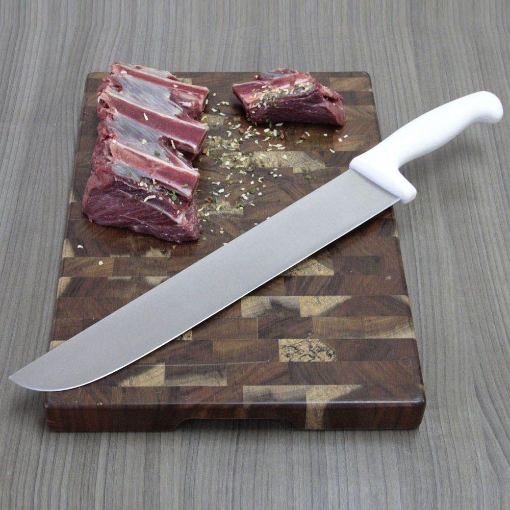 faca de açougueiro profissional em inox 12 polegadas