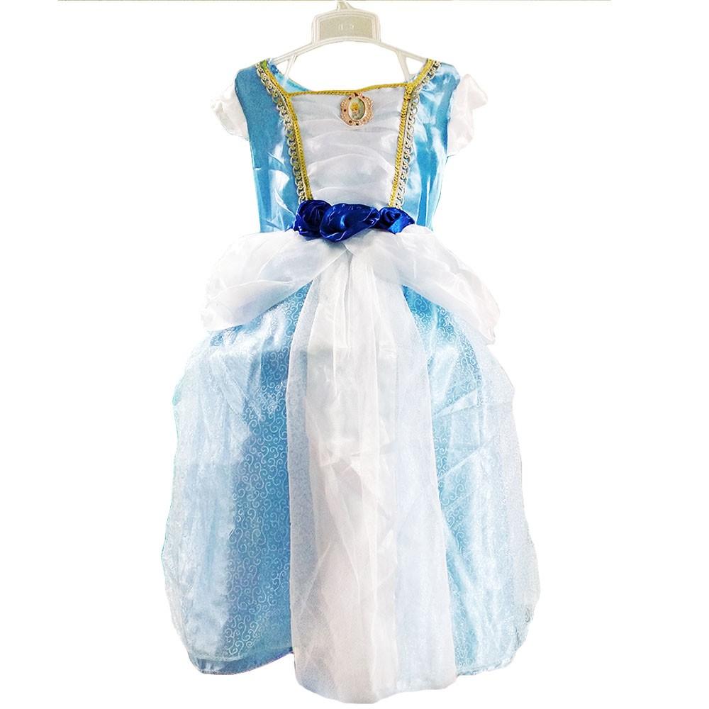 fantasia da cinderela infantil vestido princesa 4 a 8 anos