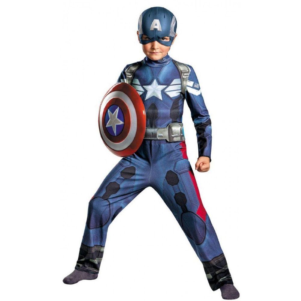 fantasia infantil capitão América com músculos de 4 a 8 anos