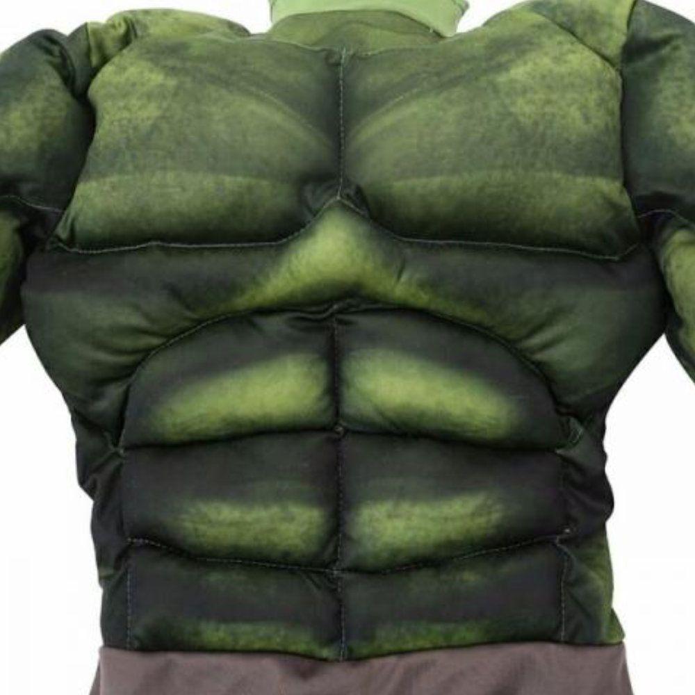 fantasia infantil incrivel hulk com musculos 4 a 8 anos